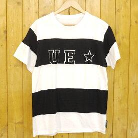 【中古】uniform experiment/ユニフォームエクスペリメント WAPPEN BOLD TEE ワッペンボーダーTシャツ サイズ:1 カラー:ブラック・ホワイト【f103】