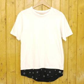 【中古】uniform experiment/ユニフォームエクスペリメント FAKE LAYERED SHORT SLEEVE CUT & SEWN レイヤード風Tシャツ サイズ:3 カラー:ホワイト【f103】
