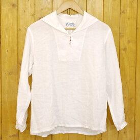 【中古】Charpentier de Vaisseau/シャルパンティエ ドゥ ヴェッソ セーラーカラーリネンシャツ サイズ:1 カラー:ホワイト【f113】