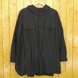 【中古】DIET BUTCHER SLIM SKIN/ダイエットブッチャースリムスキン Hoody long shirt coat フード付き長袖シャツ サイズ:2 カラー:ブラック【f104】