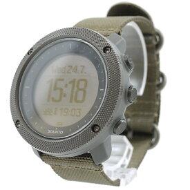 【中古】SUUNTO/スント 腕時計 TRAVERSE ALPHA Foliage トラバース アルファ フォリッジ GPSウォッチ 充電式 SS022292000 カラー:カーキ【f131】