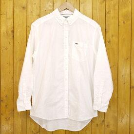 【中古】TOMMY JEANS/トミー ジーンズ ボタンダウン 胸ポケット 長袖 クラシックシャツ DW0DW06511 サイズ:S カラー:ホワイト【f112】