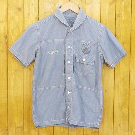 【中古】SAMURAI JEANS/サムライジーンズ 半袖シャツ サイズ:S カラー:ブルー【f101】