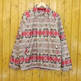 【中古】CALEE/キャリー Native pattern coach jacket コーチジャケット サイズ:M カラー:マルチカラー【f096】