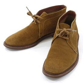 【中古】Alden/オールデン UNLINED CHUKKA BOOT  スウェード チャッカブーツ 1493 サイズ:8・1/2E カラー:ブラウン【f127】