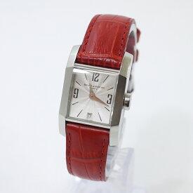 【中古】BAUME&MERCIER/ボーム&メルシエ 腕時計 クォーツ サイズ:- カラー:シルバー×レッド【f131】