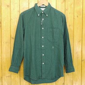 【中古】INDIVIDUALIZED SHIRTS for iliann loeb/インディビジュアライズドシャツ フォー イリアンローヴ 長袖シャツ サイズ:記載なし カラー:グリーン【f112】
