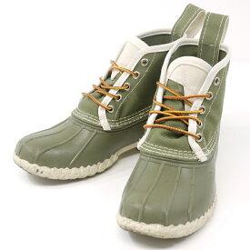 【中古】L.L.Bean/エルエルビーン 6インチ ブーツ キャンバス サイズ:7 カラー:オリーブグレー(カーキ系)【f127】