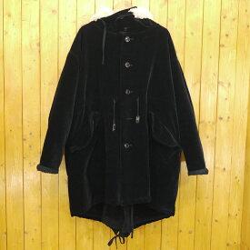 【中古】DIET BUTCHER SLIM SKIN/ダイエットブッチャースリムスキン reversible over sized velveteen military coat  ベロアコート リバーシブル サイズ:1 カラー:ブラック【f096】