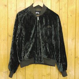 【中古】STUSSY/ステューシー ジップアップベロアブルゾン Velour Souvenir Jacket サイズ:S カラー:グレーン系【f110】