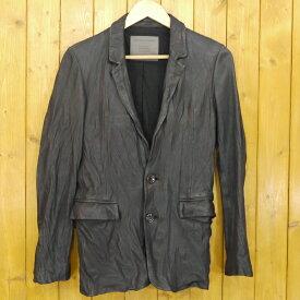 【中古】Moonage Devilment/ムーンエイジデビルメント レザーテーラードジャケット サイズ:46 カラー:ブラック【f096】