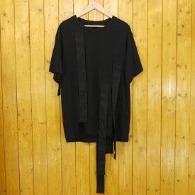 【中古】Yohji Yamamoto/ヨウジヤマモト Hang loop stop T-shirts 半袖 カットソー/Tシャツ NH-T63-271 サイズ:2 カラー:ブラック【f108】