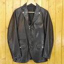 【中古】RAINMAKER/レインメーカー レザージャケット サイズ:46 カラー:ブラック【f096】