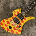 【送料無料】Burny/Yellow Heart Jr【中古】【楽器/バーニー/HIDEシグネチャーモデル/X JAPAN/エレキギター】