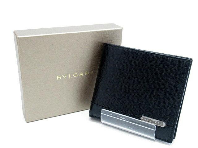 【中古】BVLGARI/ブルガリ 39096 OCTO オクト 二つ折り財布 カラー:ブラック