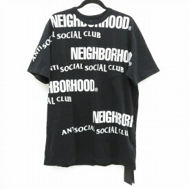 【中古】NEIGHBORHOOD×Anti Social Social Club|ネイバーフッド×アンチ・ソーシャル・ソーシャル・クラブ 19SS/ASSC/C-CREW.SS Tシャツ半袖 ブラック サイズ:XL / ストリート【f103】
