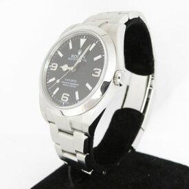 【中古】ROLEX|ロレックス エクスプローラーI Ref.214270 前期型 ランダム番 腕時計 ブラック(文字盤)×シルバー(ベルト)【f132】