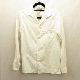 【中古】GANGSTERVILLE /ギャングスタービル シャツ長袖 サイズ:S カラー:オフホワイト / ルード【f104】