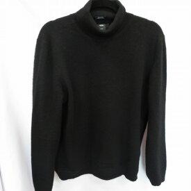 【中古】HUGO BOSS ヒューゴボス タートルネックセーター サイズ:XL カラー:ブラック / インポート【f102】