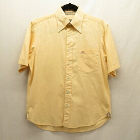 【中古】BURBERRY BLACK LABEL|バーバリーブラックレーベル シャツ半袖 オレンジ系 サイズ:2 / インポート【f102】