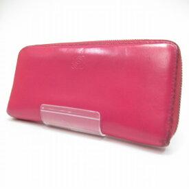 d765a923c85b 【中古】LOEWE/ロエベ ラウンドファスナー長財布 サイズ:ー カラー:ピンク