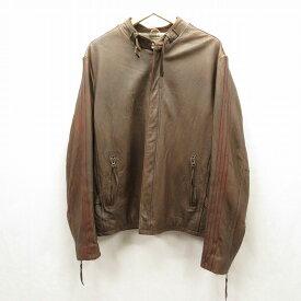 【中古】SCHOTT/ショット レザージャケット サイズ:L カラー:ブラウン / アメカジ【f093】