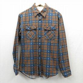 【中古】VISVIM/ビズビム ヴィズヴィム 長袖シャツ サイズ:1 カラー:ブラウン / ドメス【f103】