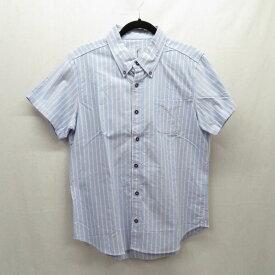 【中古】TMT/ティーエムティー 半袖ストライプシャツ サイズ:L カラー:ブルー / ドメス【f104】