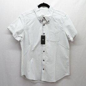 【中古】TMT/ティーエムティー 半袖ストライプシャツ サイズ:L カラー:マルチ / ドメス【f104】