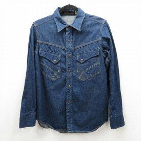 【中古】FULLCOUNT/フルカウント 長袖デニムシャツ サイズ:36 カラー:ネイビー / アメカジ【f101】