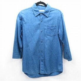 【中古】FULLCOUNT/フルカウント 7分袖デニムシャツ サイズ:38 カラー:ブルー / アメカジ【f101】