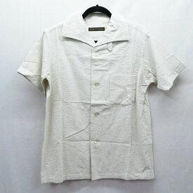【中古】FULLCOUNT/フルカウント ITALIAN COLLAR RESORT SHIRTS 半袖シャツ サイズ:38 カラー:ホワイト / アメカジ【f101】