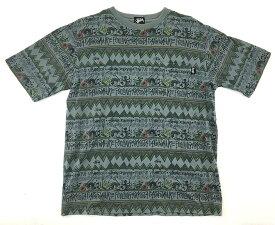 【中古】【サイズ:L】STUSSY スチューシー IRIE BAND Rasta S/S SHIRT アイリーバンド ラスタ Tシャツ 90's メンズ TOPS ヴィンテージ 【八代店】