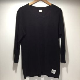VICTIM ヴィクティム ロンT Tシャツ 七分丈 ブラック(XL)【中古】古着 メンズファッション 53FT1004574