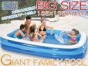 プール ビニールプール ファミリープール 大型 185×135×40cm 2気室 クッション性 水あそび レジャープール 家庭用プール 子供用プール 送料無料 ...