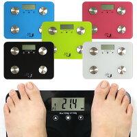 体重・体脂肪率・体水分量・推定骨量・筋肉量・肥満度の6つを表示・スタイリッシュ!!体脂肪デジタルおすすめ