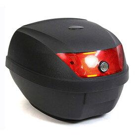 リアボックス トップケース バイクボックス バイクケース 収納 ブラック 黒 28L 簡単装着 鍵付き 送料無料 お宝プライス ###バイクボックスA08黒###