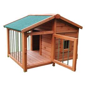 大型犬小屋 サークル犬舎 サークル 犬舎 屋外ハウス 外飼い お庭用 木製 ドッグパーク 中型犬用 小型犬用 98×78×72cm 送料無料/###犬小屋DHDX007###