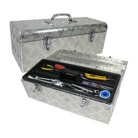 工具箱 ツールボックス 工具セット 道具箱 工具ボックス 工具入れ アルミ工具箱 保管箱 収納 アルミボックス 収納ボックス 580×270×250mm 送料無料 お宝プライス ###工具ボックスB1-522###