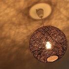アバカ風ランプシェード43cmペンダントライトアジアンモダンシェードランプ照明スポットライト【送料無料】間接照明リビング照明器具インテリア照明ダイニング寝室ライト