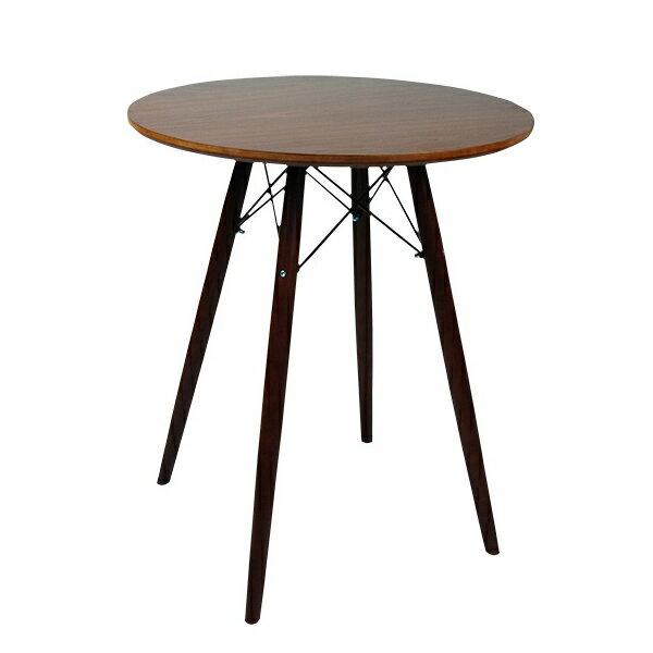 ダイニングテーブル Eames TABLE イームズテーブル ウッドレッグラウンドテーブル ブラウン 木脚 直径60cm 北欧 円形テーブル カフェテーブル サイドテーブル センターテーブル 送料無料 お宝プライス/###テーブルGT725茶###