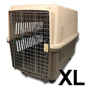 ペット ハードキャリー 大型犬 ペットキャリーケース ハードタイプ キャスター付き 90×75×62cm 送料無料 ###ペットキャリ005茶RZ###