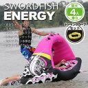 トーイングチューブ 4人乗り ENERGY ロープ付 水上バイク ジェットスキー マリン ボート 浮輪 バナナボート【送料無料】/###ボートENERGY###
