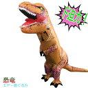 エアー コスプレ T-REX 恐竜 怪獣 インフレータブル エアーポンプ付き 空気 ファン 膨らむ 恐竜ライダー 大人用 コス…