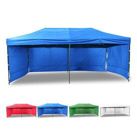 タープテント テント 幕付き 大型 テント 6×3m タープテント 超BIGテント 大型 ワンタッチ 簡単設置日よけ アウトドア 軽自動車 車庫 お宝プライス###幕付テントS-3X6C###