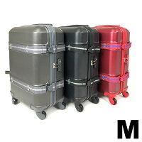 スーツケース頑丈安全ベルト付き中型50LTSAロック軽量キャリーケース4〜6泊用Mサイズ送料無料/###ケースABS40-M###