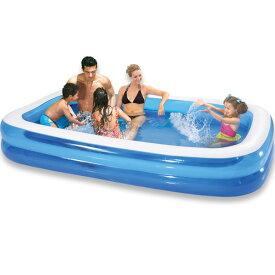 プール ビニールプール ファミリープール 大型 185×135cm 2気室 クッション性 水あそび レジャープール 家庭用プール 子供用プール 送料無料 ###プールAPL102-N1###