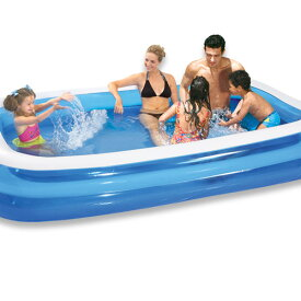 プール ビニールプール ファミリープール 大型 295×161cm 2気室 クッション性 水あそび レジャープール 家庭用プール 子供用プール 送料無料 お宝プライス###プールAPL102-N2###