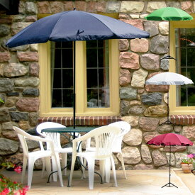 ガーデンパラソル パラソルベース セット 土台付き パラソル 日除け 日よけ サンシェード オープンカフェ 収納ケース付き 送料無料 お宝プライス ###パラソル1008###