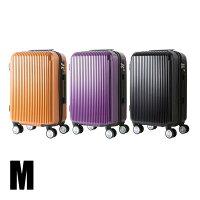 スーツケースM中型50L超軽量キャリーケースキャリーバッグ鏡面加工マット加工4輪ダブルキャスター8輪キャスター軽量Mサイズ4〜7泊送料無料###ケースYP110W-M###